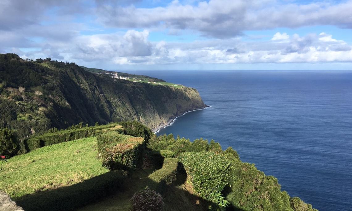 Ausblick auf Steilküste
