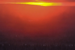 Sonnenaufgang und Sonnenuntergang gleichzeitig
