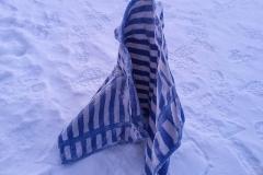 gefrorenes Handtuch