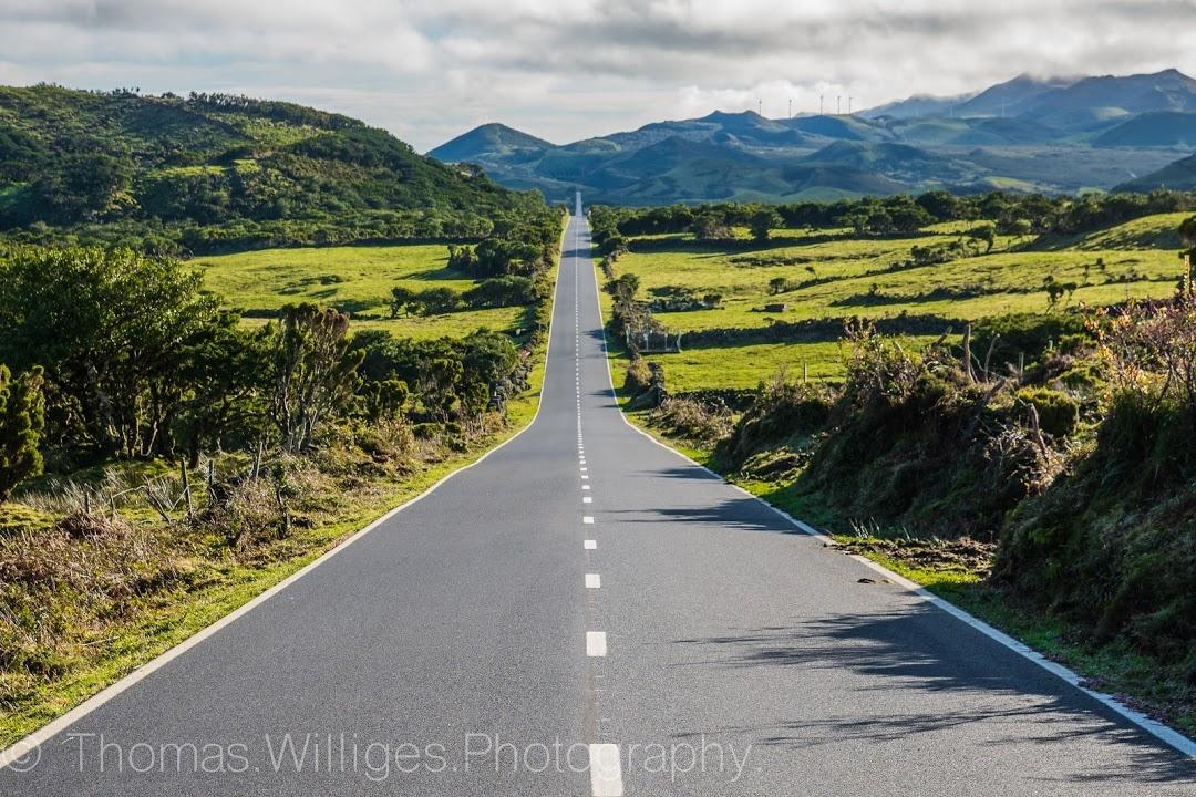 Straße auf der Azoren-Insel Pico