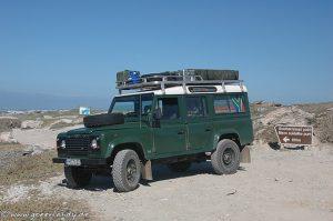 Landrover Defender 110 mit Dachträger