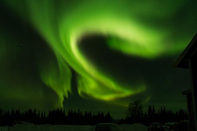 Polarlicht im nordschwedischen Lappland
